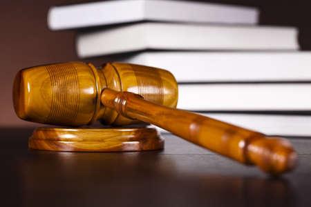 litigation:  Wooden gavel barrister, justice concept