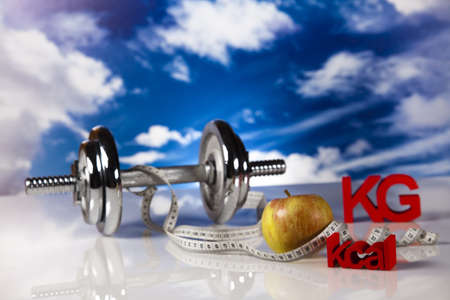 kilograms: Kilograms, Sport diet Stock Photo