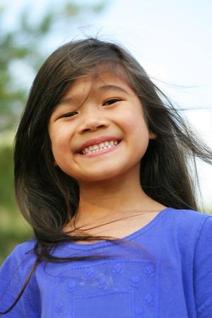 all smiles: Little girl all smiles