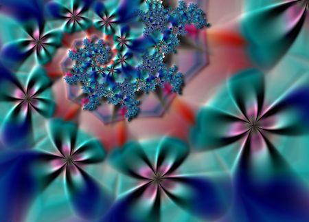 starshine: Spiral flower fractal