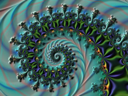 starshine: Embossed spiral fractal with waves Stock Photo