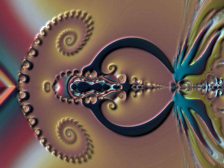 starshine: Embossed fractal Stock Photo