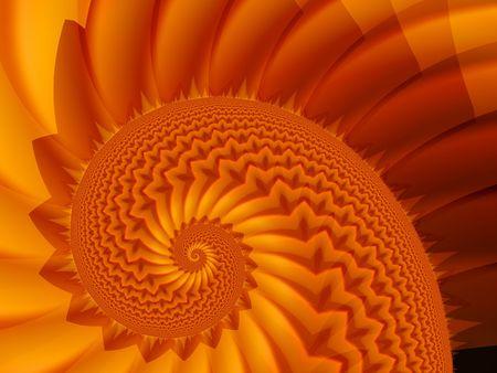 starshine: spiral red fractal