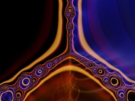 starshine: Colorful bubbly fractal with lines