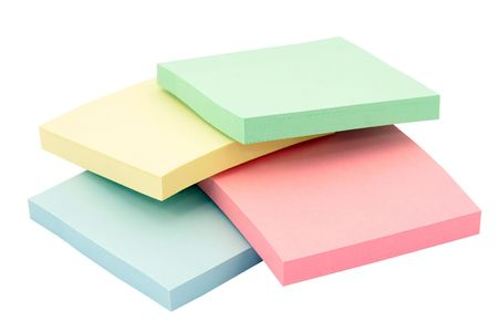 Stacks of colorfull office adhesive paper