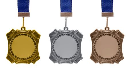 Set of medals isolated on white