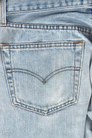 Back pocket on worned jeans