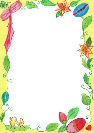 Spring frame for background and wallpaper photo