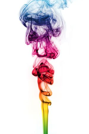 Smoke trail in different colors