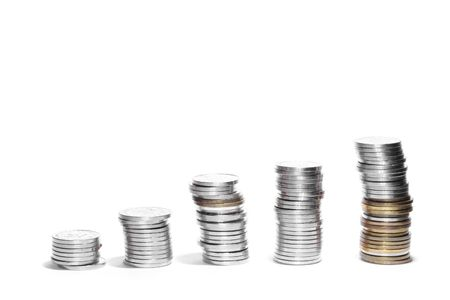 Coins showing profit and gain