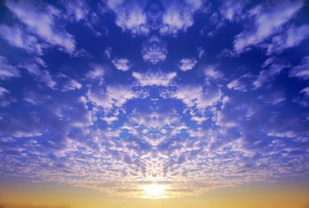 Blue sky and sunset clouds Stock Photo - 2796994