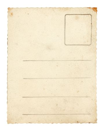 Back of old post card