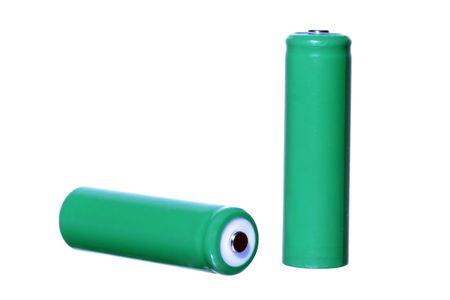 aa: AA batteries isolated on white