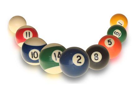 poolball: Pool balls on white background
