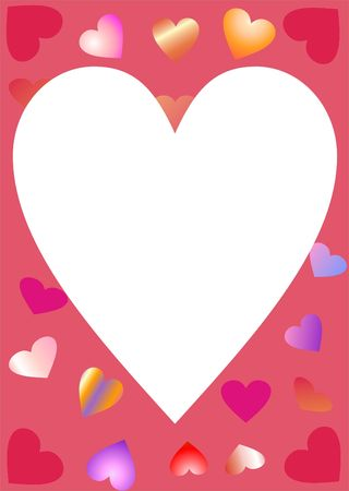 Bunch of hearts on heart frame Stock Photo - 3139894