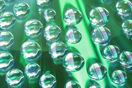 rewritable: Close up of water drops on CD