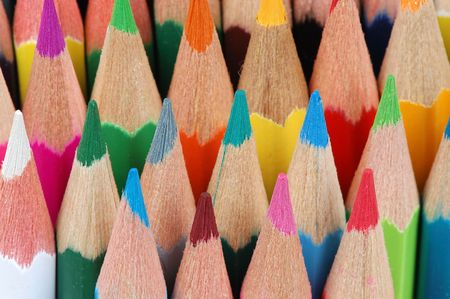background from several vertical color pencils Stock Photo - 678119