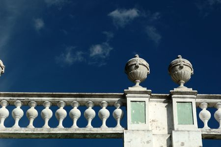 kuskovo: Banisters on the roof of