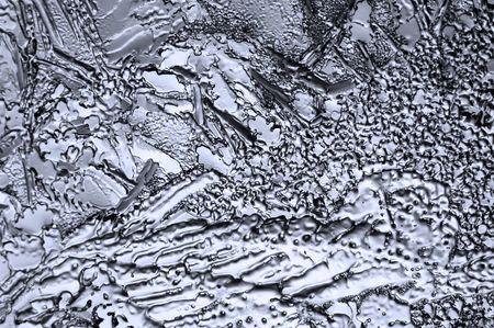 macrophoto: Pattern of an ice on glass; macrophoto
