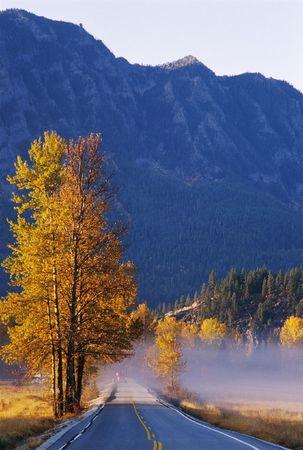 Back country roads along mountainside