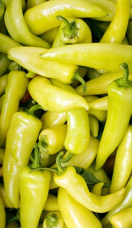 Close up of Italian Yellow Peppers