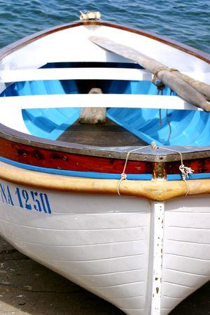 calabria: Boat on italian shore, Reggio Calabria, Italy