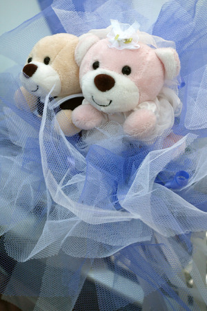 Toy bears for wedding decorations