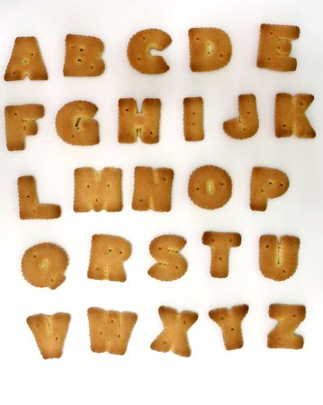 Alphabet Shape Biscuit photo