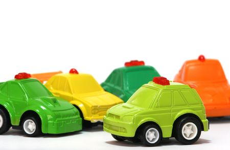 Toy cars.