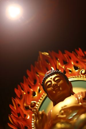 believes: Buddha in a chinese temple