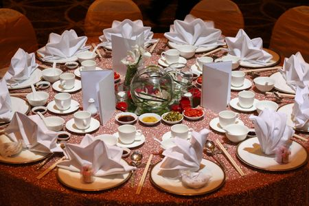 Table Set Up Stock Photo