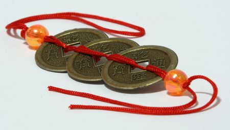 Ancient chinese coins. Stock Photo