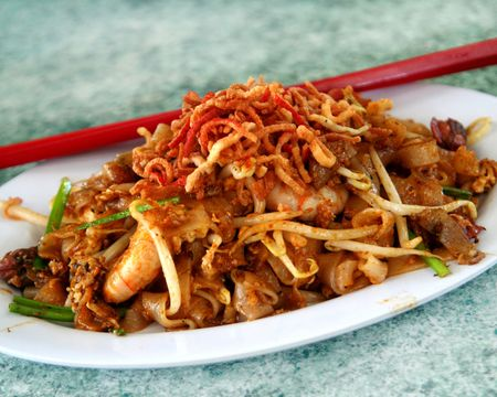Penang Fried Noodle Stock Photo