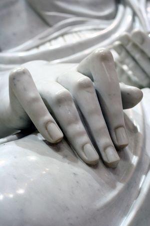 Holy hand of a buddha