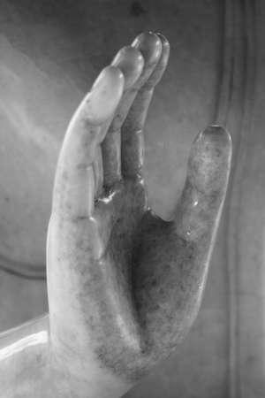 Hand of a Buddha. Stock Photo