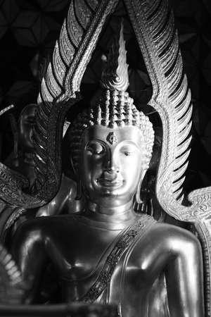 A Thai Buddha in black & white.