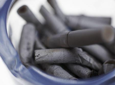 cigarettes and ashtray photo