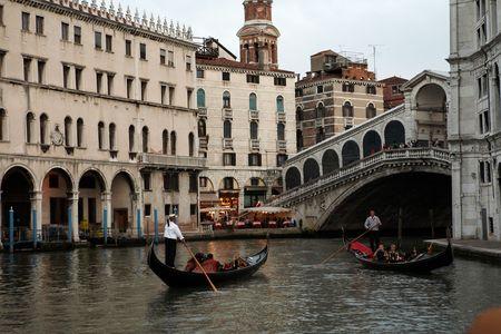punting: two gondola man Stock Photo