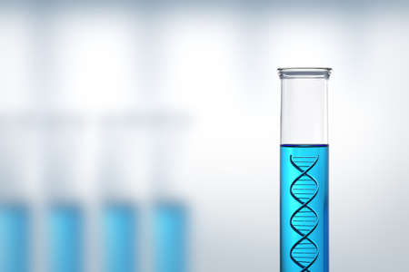 dna test: Conceptual - DNA research or testing in a laboratory Stock Photo