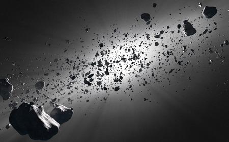 staub: Innerhalb der Asteroidengürtel vor der Sonne im Weltraum gesehen