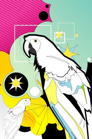 bird abstract design