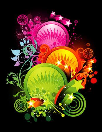 neon color vector illustration Illustration