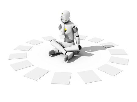 empleadas: Crash test dummy para sentarse alrededor de una s�banas blancas Foto de archivo