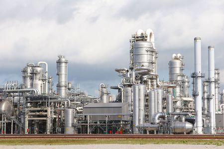 chemical plant: Chemische fabriek Stockfoto