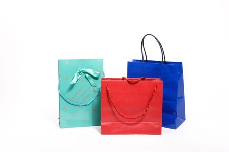 Colored bags photo