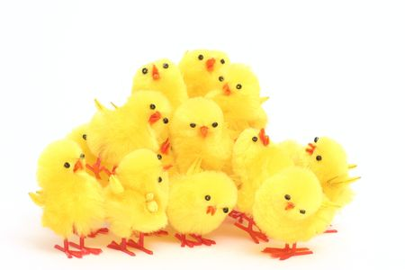 Easter toy chickens photo