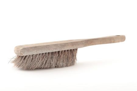 broom handle: Sweep