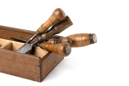 woodworking: Carpenters tools Stock Photo