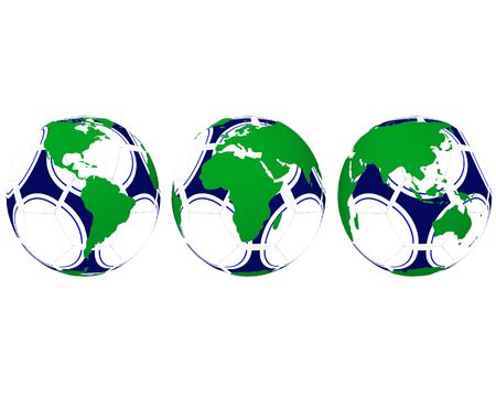 soccerball: World Map on soccerball Stock Photo