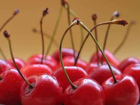 Closeup og cherries photo